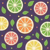 Piastrelle di carta da parati senza giunte di limone floreale vettore