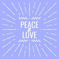 Cartolina d'auguri di pace e amore per l'illustrazione di Capodanno
