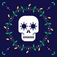 Il giorno dei morti per la cartolina o l'illustrazione di progettazione di celebrazione vettore