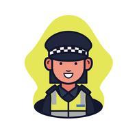 Agente di polizia Avatar vettore