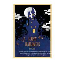 volantino di halloween spaventoso