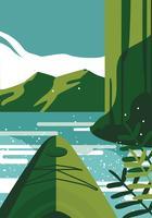 Kayaking in prima persona Visualizza disegno vettoriale