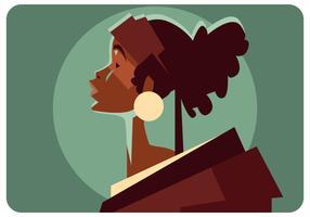 Un vettore di donna indigena