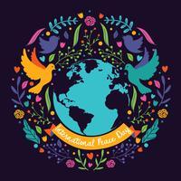 Disegno vettoriale internaional pace giorno