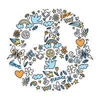 Simbolo della pace vettore