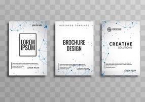 Insieme astratto opuscolo di affari creativi vettore