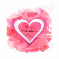 San Valentino Illustrazione del disegno della carta cuore amore vettore