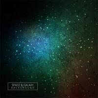 Luminosa luce magica colorata sullo sfondo scuro della galassia vettore