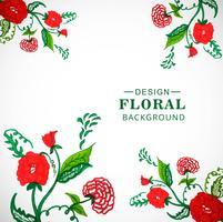 Modello di acquerello carta floreale per la progettazione di inviti di nozze