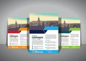 modello di business flyer per la promozione dell'opuscolo di layout o la società di relazione annuale vettore