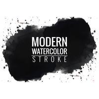 sfondo nero acquerello moderno vettore