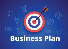 concetto di piano aziendale e lavoro di progetto di avvio vettore