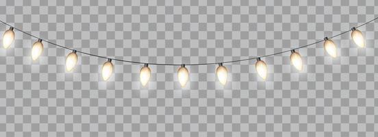 ghirlanda di lampadine lucide vettore