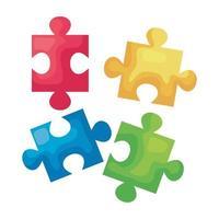 pezzi del gioco di puzzle vettore