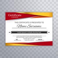 Vettore elegante modello elegante certificato colorato