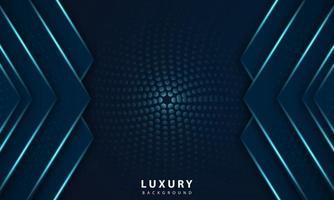 astratto geometrico blu navy sfondo astratto con luce blu metallizzata vettore