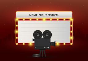 Poster di film Night Party o modello Web vettore