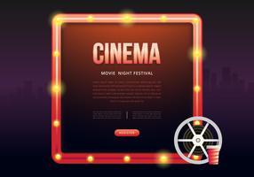 Poster di film Night Party o modello Web