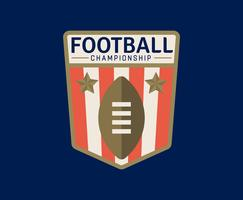 Emblemi di football americano vettore