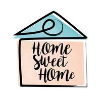 lettering casa dolce casa vettore