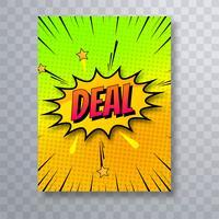 Illust di vettore dell'opuscolo del modello di affare del libro di fumetti variopinto di Pop art