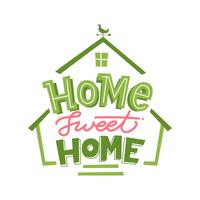 Layout di Lettering Home Sweet Home vettore
