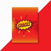 Disegno del modello di opuscolo comico colorato pop art