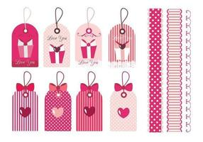 San Valentino Tag & Border Vector Pack