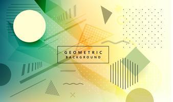 Design creativo geometrico colorato moderno vettore