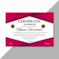 Illustrazione variopinta di vettore del modello del diploma del certificato