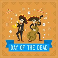 Giorno piatto dell'illustrazione vettoriale morto