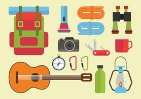 Camping Knolling Vector