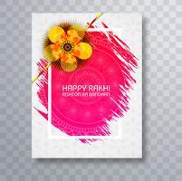 Disegno dell'opuscolo del modello della cartolina d'auguri di Raksha Bandhan Festival vettore