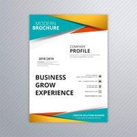 Design moderno colorato modello di brochure aziendale vettore