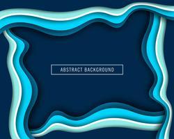 Vettore di progettazione del taglio della carta blu della bella onda