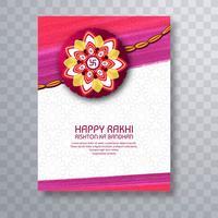 illustrazione del biglietto di auguri con decorativo Rakhi per Raksha B vettore
