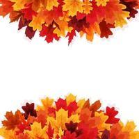 fondo brillante dell'insegna delle foglie di autunno vettore