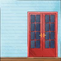 Passi le vecchie porte di disegno nello stile d'annata sul fondo dell'acquerello