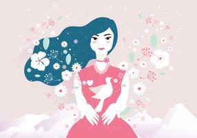 Vettore delle illustrazioni di pace e di amore