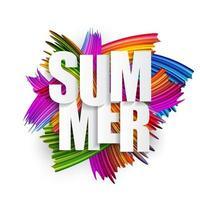 pennellate di spettro astratto. sfondo estate arte testurizzata vettore