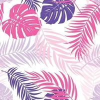 bella palma foglie silhouette seamless pattern sfondo illustrazione vettoriale