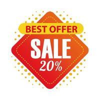 migliore offerta e vendita nel disegno vettoriale di etichetta