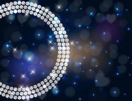 sfondo di lusso astratto diamante nero vettore