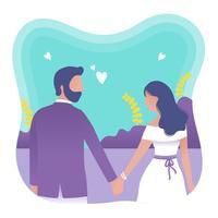 Vettore di proposta di fidanzamento