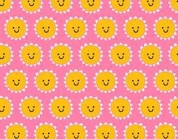 smile seamless pattern di sole vettore