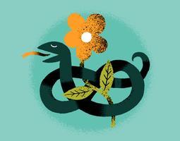 fiore di serpente vettore