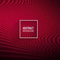 Abstractl elegante rosso punteggiato onda sfondo vettore