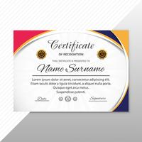 Estratto certificato creativo di apprezzamento modello di premio des vettore