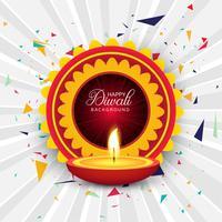Bella cartolina d'auguri per felice festival diwali sfondo vec vettore