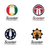 Ciclomotore scooter logo icona vettore illustrazione